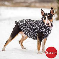 Жилет утепленный для собак DIEGO sport 5/6 череп, размер 5 - длина спины - 43-55см, обхват груди 64-82, обхват