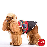 Жилет двухслойный для собак DIEGO Vest Print 2 красный, размер XXL