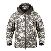 Куртка водозащитная софтшел реплика ESDY Travel в расцветке темный пиксель