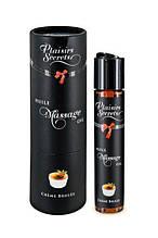Масло массажное возбуждающее со вкусом Крем Брюле Plaisirs Secrets 59 мл - Love&Life
