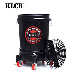 KLCB KA-G027 Відро для мийки авто з сепаратором та коліщатками чорне 20л