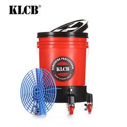 KLCB Відро для мийки авто з сепаратором та коліщатками червоне 20л