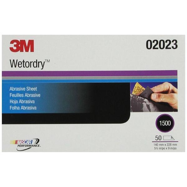 3M Бумага наждачная водостойкая 02023 Wetordry 138 х 230 мм P1500