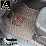 Коврики на Mercedes W166 ML Class Кожаные 3D (2012-2018) Тюнинг Мерседес МЛ, фото 4