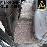 Коврики на Mercedes W166 ML Class Кожаные 3D (2012-2018) Тюнинг Мерседес МЛ, фото 6