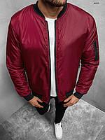Куртка бомбер мужская весення осенняя бордовый