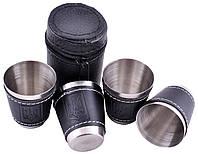 Походные рюмки из нержавеющей стали (4 шт) PM-16