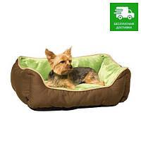3163 K&H Pet Products Лежак Self-Warming, зеленый/крем