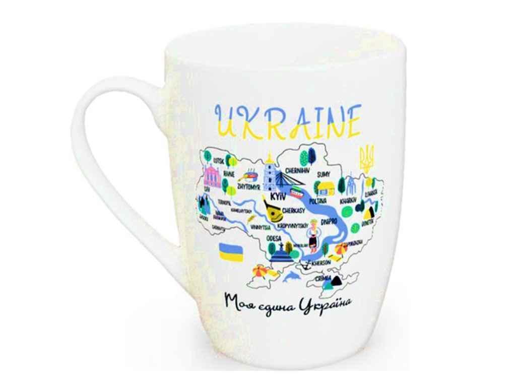 Чашка 360мл Капучіно Моя єдина Україна 1744 в під. коробці ТМ KVARTA