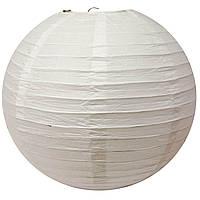 Фонарь белый бумажный (d-30 см)