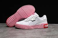Кроссовки женские Puma Cali White белые кожаные кеды Puma демисезонные подростковые
