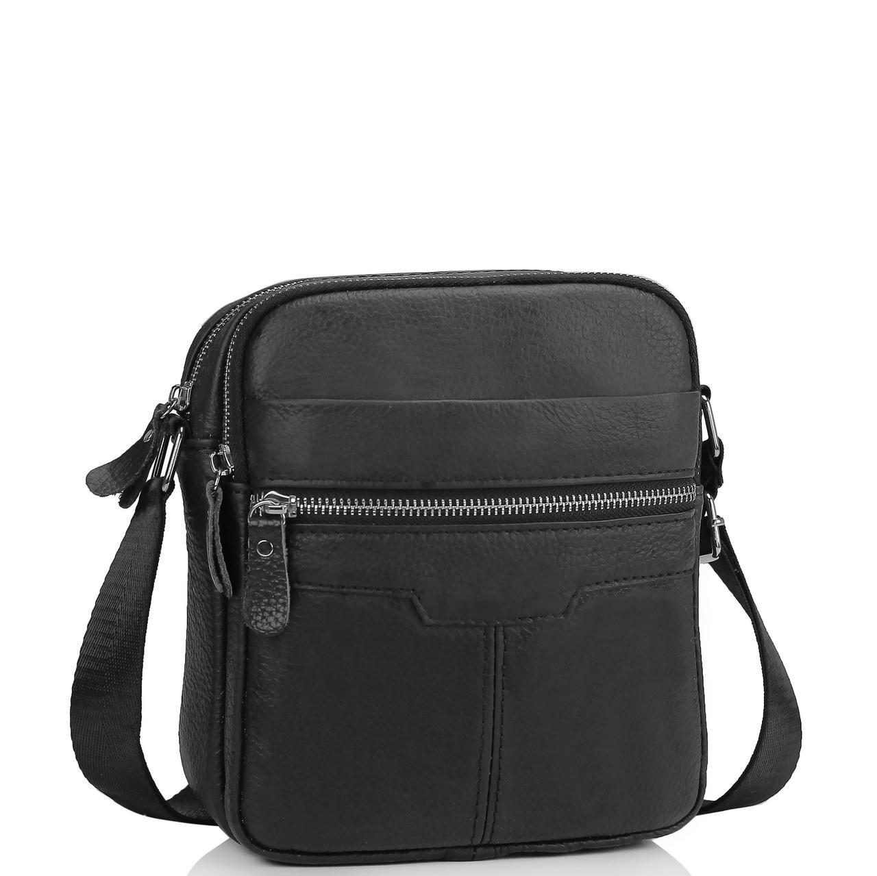 Чоловіча шкіряна сумка через плече маленька Tiding Bag A25F-6625A