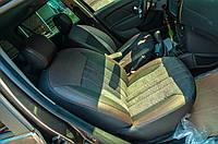 Модельные авточехлы на Renault Logan MCV 2013-2017 Нубук Экокожа Алькантара ML