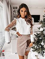 Блуза женская рукава сетка, фото 1