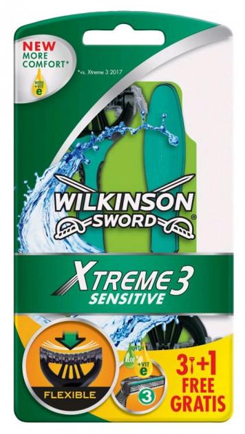 Одноразовые бритвенные станки Wilkinson Sword Xtreme 3 Sensitive (4шт.)