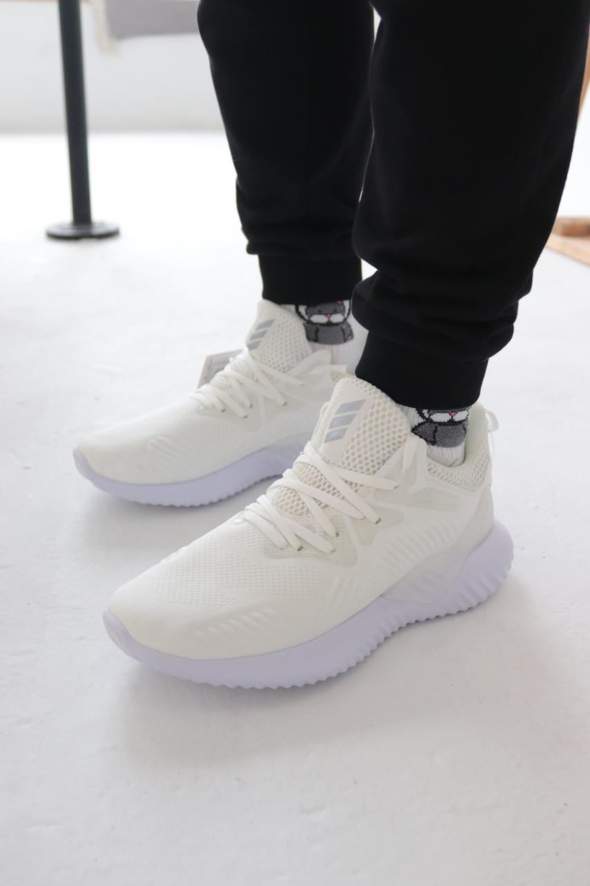 Кроссовки Adidas Alphabounce Instinct White Адидас Альфабаунс Инстинкт Белые (41,42,43,44,45)