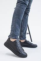 Мужские кеды кожаные весна/осень черные Emirro 88 Black Edition, фото 2