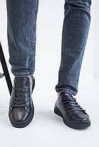 Мужские кеды кожаные весна/осень черные Emirro 88 Black Edition, фото 3