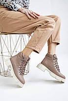 Женские ботинки кожаные весна/осень коричневые Vankristi 010 Байка, фото 2