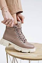 Женские ботинки кожаные весна/осень коричневые Vankristi 010 Байка, фото 3