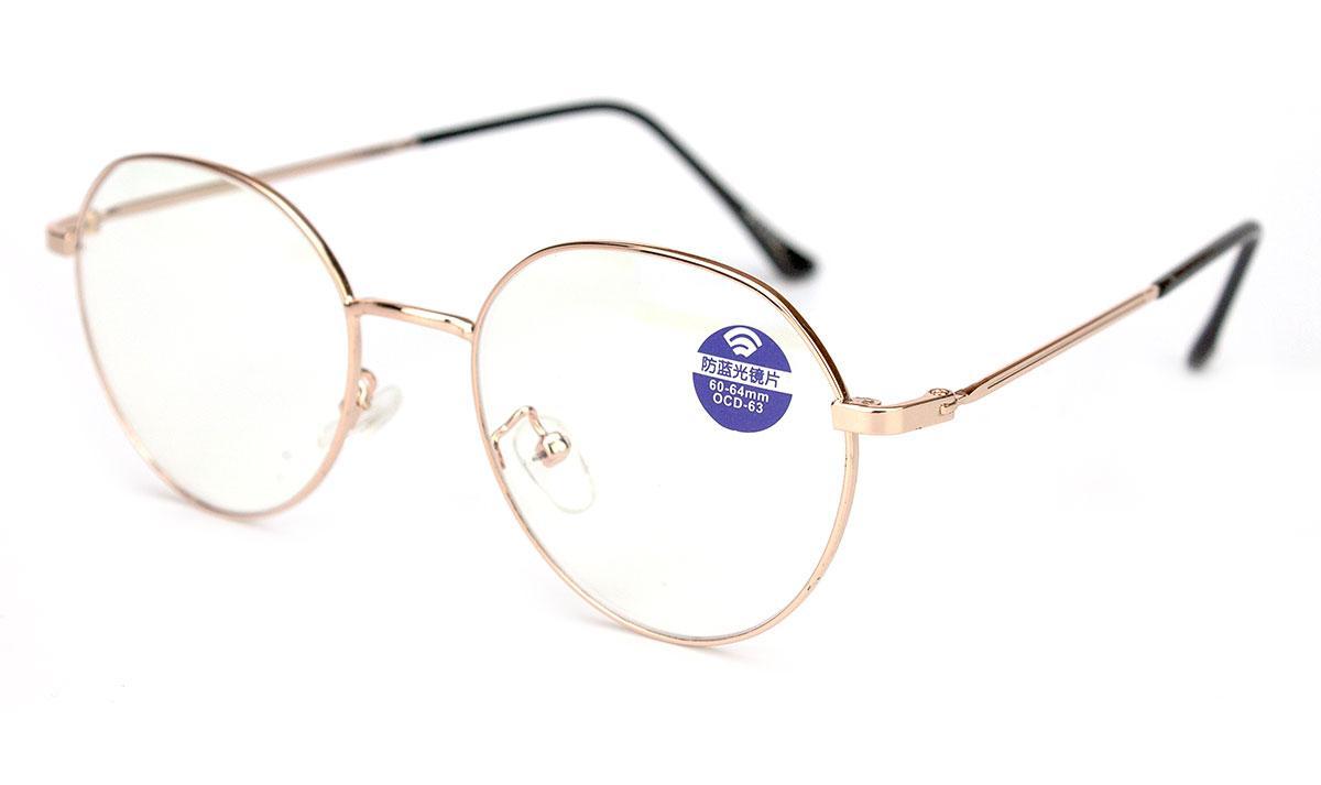 Очки для компьютера из металла, очки компьютерные, защитные очки для работы за компьютером, унисекс, в футляре