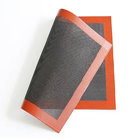 Черный перфорированный силиконовый коврик для выпечки 30*40 см