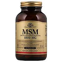 Сірка, MSM (Methylsulfonylmethane), Solgar, 1000 мг, 120 таблеток