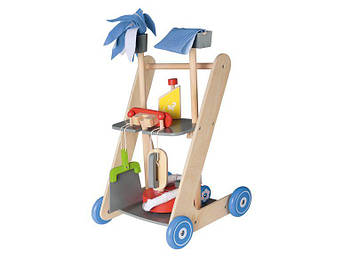 Дерев'яна яний візок для прибирання PLAYTIVE® JUNIOR 7 елементів Німеччина