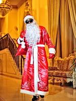 Новогодний мужской красный костюм Дед Мороз размер 46-52