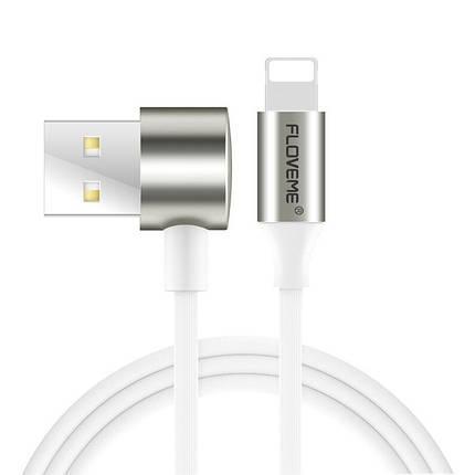 Кабель USB-Lightning/MicroUSB Floveme 2 in 1 Double Side Cable YXF71054 (Белый, 1м), фото 2