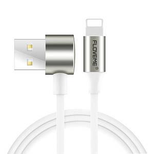 Кабель USB-Lightning/MicroUSB Floveme 2 in 1 Double Side Cable YXF71054 (Белый, 1м)
