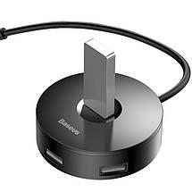 HUB адаптер Baseus Round Box USB3.0 to 1USB 3.0+3USB 2.0 CAHUB-F01 (Чорний), фото 3