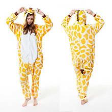 Пижама Кигуруми Жираф Размер S , M ,L Ткань Велсофт