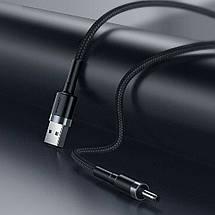 Кабель Baseus Cafule Cable USB 2.0 DC 3.5 mm 2A CADKLF-G1 (Чорний/Сірий, 1м), фото 3