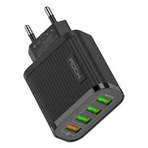 Универсальное сетевое зарядное устройство Rock CY-Q1U3 QC 3.0 4xUSB 5V/3A (Черное)