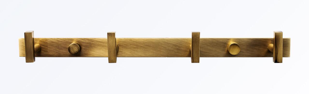 Держатель полотенец с крючками серия Viya бронза