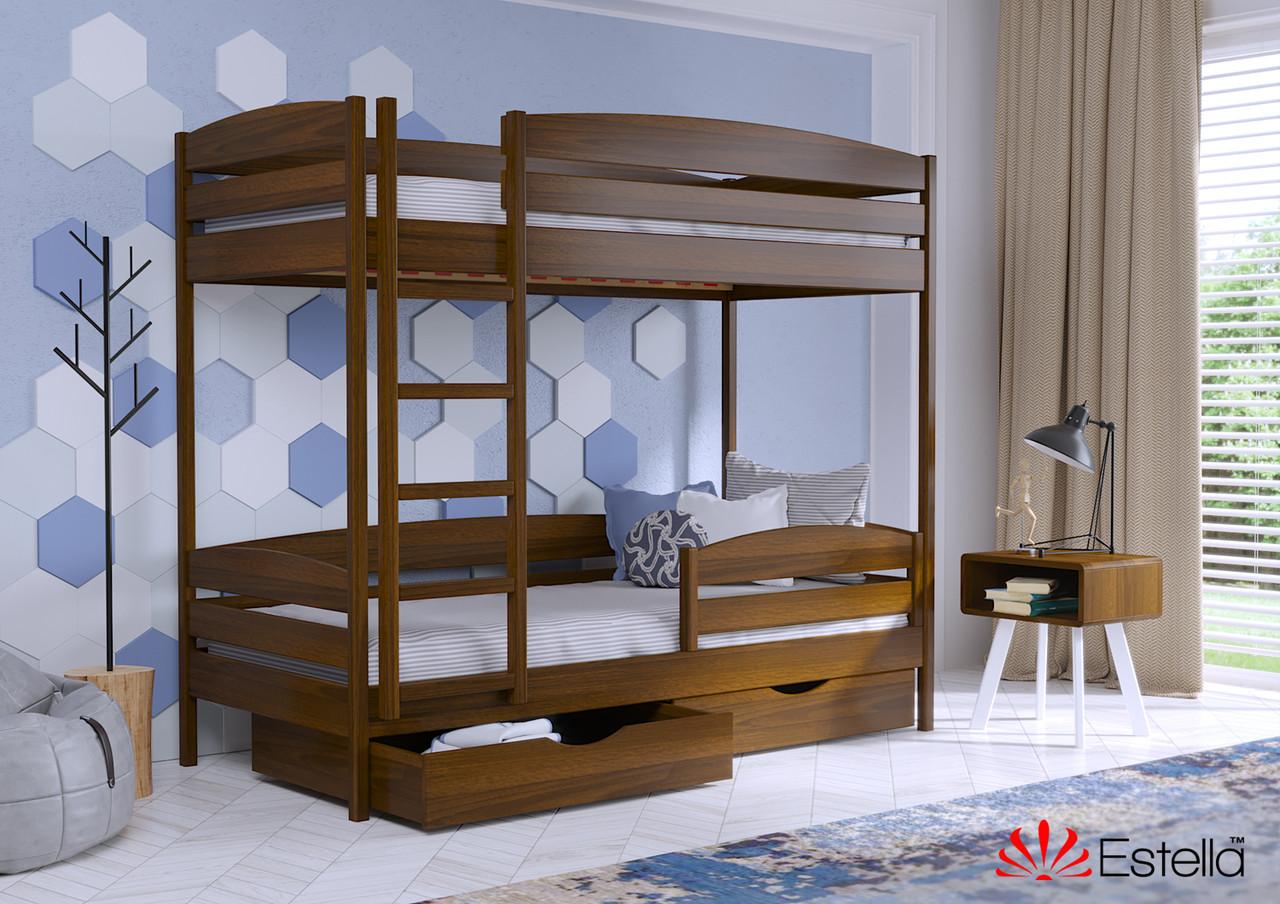 Двоярусне ліжко Дует Плюс 80х190 103 Масив 2Л25