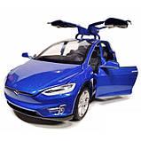 Автомодель металлическая Tesla Model X 100 D 6603 Автопром, звук, свет, открываются двери и багажник (4 цвета), фото 6