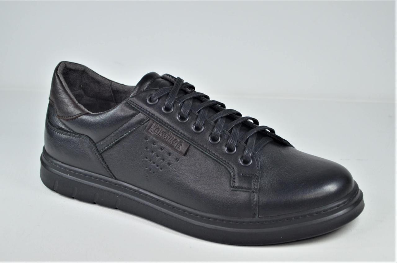 Чоловічі шкіряні спортивні туфлі чорні Kardinal 20