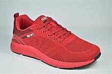 Мужские модные кроссовки сетка красные Supo 298 - 1