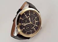 Часы мужские Guardo - Made in Italy, черный кожаный ремешок