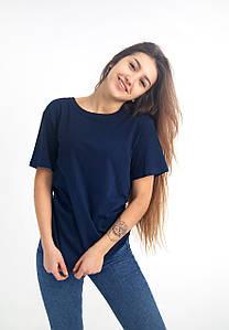 Універсальна футболка вільного крою (темно-синя)