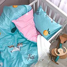 Постільна білизна в дитячу ліжечко Viluta. Сатин 419, фото 3
