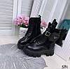 Демисезонные ботинки на высокой шнуровке черные эко кожа+эко замш// В НАЛИЧИИ ТОЛЬКО 38 40 41р, фото 9