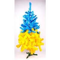 Искусственная ёлка Патриотическая желто-голубая высота 55см
