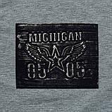 Свитшот детский для мальчика р.104,110,116,122 SmileTime Michigan, серый меланж, фото 4