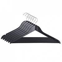 Набор вешалок для одежды Мій Дім EVERYDAY 44.5 х 1.2 см, 6 шт черные
