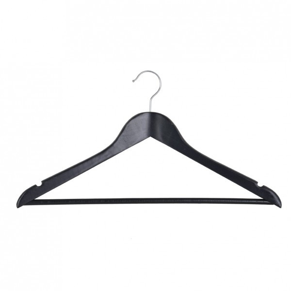 Вешалка для одежды Мій Дім EVERYDAY 44.5 х 1.2 см черная