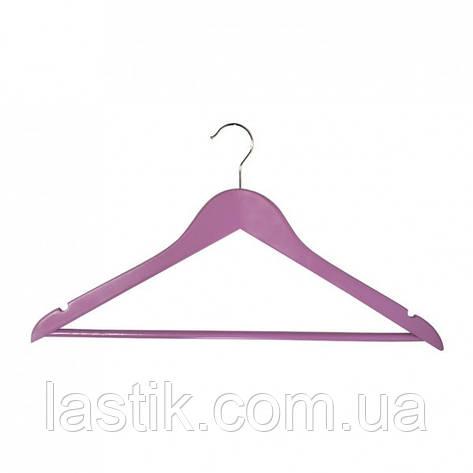 Вішалка для одягу Мій Дім EVERYDAY 44.5 х 1.2 см рожева, фото 2