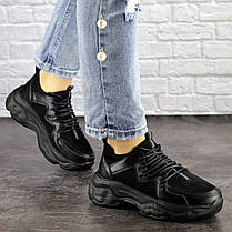 Жіночі кросівки Fashion Isabella 1501 36 розмір 23 см Чорний, фото 2